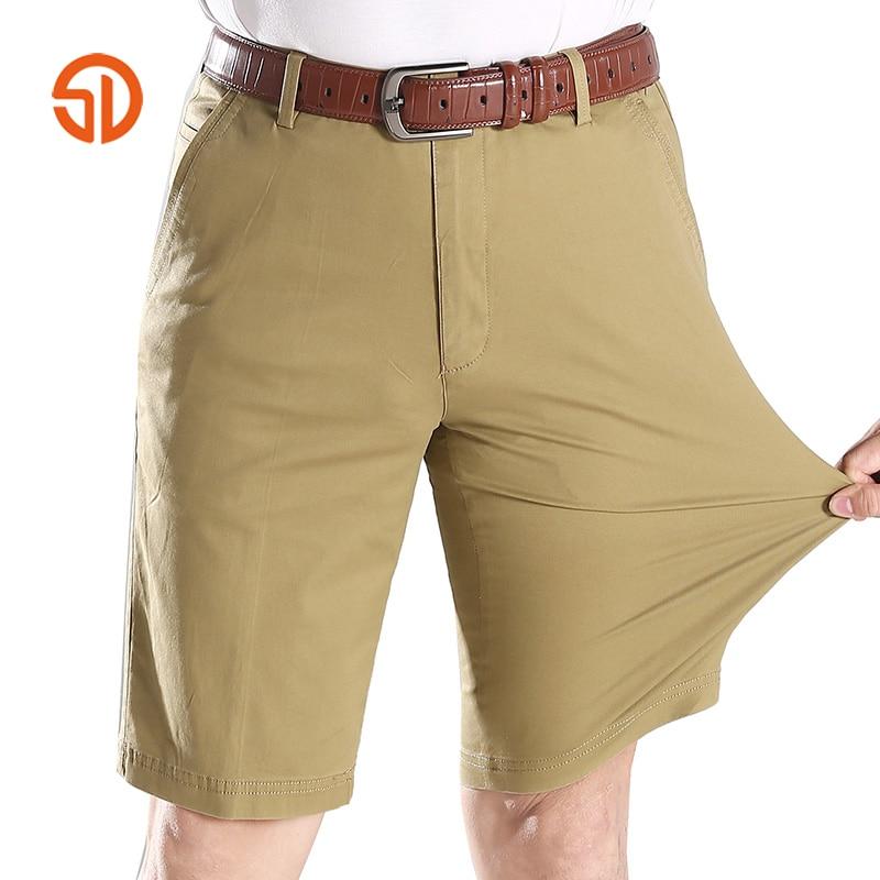 Summer Fashion Men Cargo Shorts Straight Loose Casual Cotton Mans Short Bermuda Trousers Bottoms Plus Size 31-42 No Belt