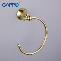 Gappo 1 Set Modern Style Gold Ring Wall Mount Towel Ring Bathroom Accessories Bath Towel Holder Bath Hardware GA1404