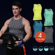 New2018 Summer Active Sportswear Running workout clothes Sport elastic quick-drying breathable tank top tight vest Running Vests