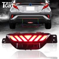 Tcart 1set Car Rear Bumper Fog Light LED Day Light White Fog Lamp For Toyota CHR