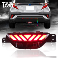 Tcart 1set Car Rear Bumper Fog Light LED Day Light White Fog Lamp For Toyota CHR