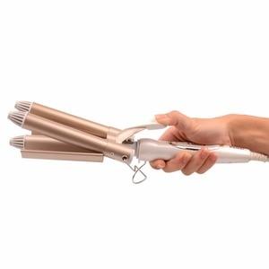 Image 5 - Kemei מקצועי שיער טיפוח וסטיילינג כלים קרלינג שיער curler גל שיער styler קרלינג איירונס שיער מלחץ krultang ברזל 5