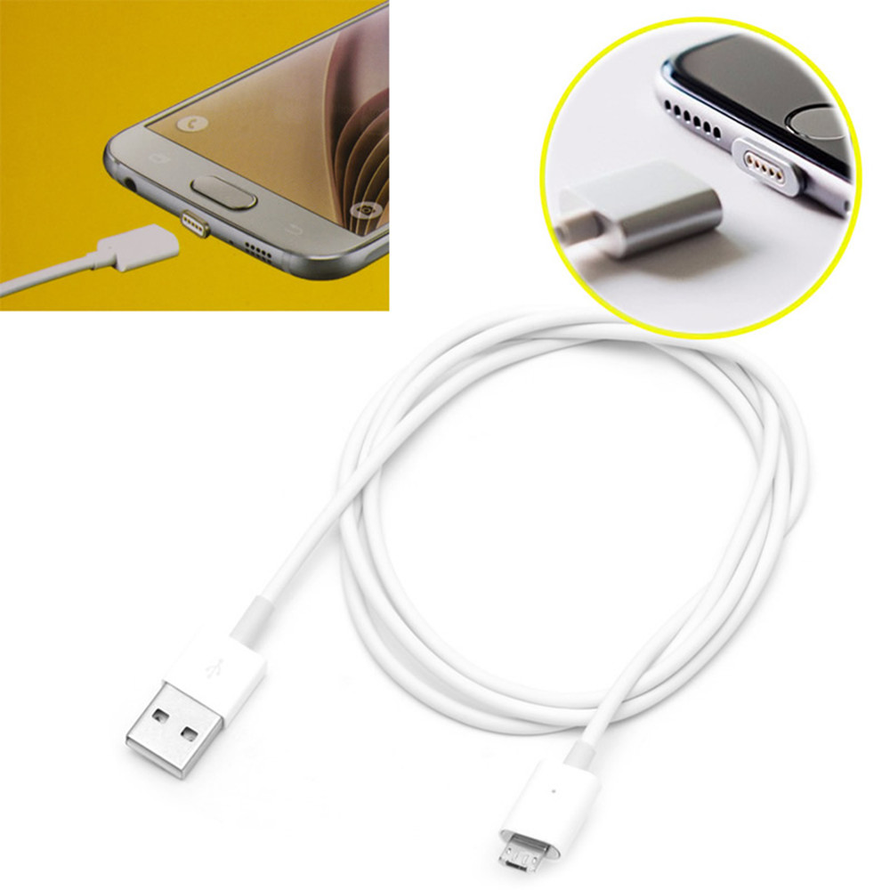 Portable High Transmission 9V 3A Android Magnetic Fast Charge Data Line White Home Travel Magnetic Charging Line For Huawei