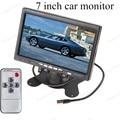 Monitor de auto 7 polegada TFT LCD a Cores com 2 Canais display LCD digital monitor do carro de vídeo para reverter estacionamento de backup câmera