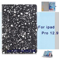 For Apple ipad Pro 12.9 Case Hard Plastic Stand smart Cover Luxury Colorful Cartoon Star Flip PU Leather Case A1584 A1652