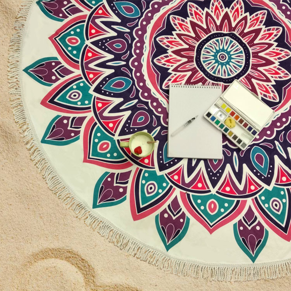 de Praia Rodada Esportes Yoga Pad Tapeçaria