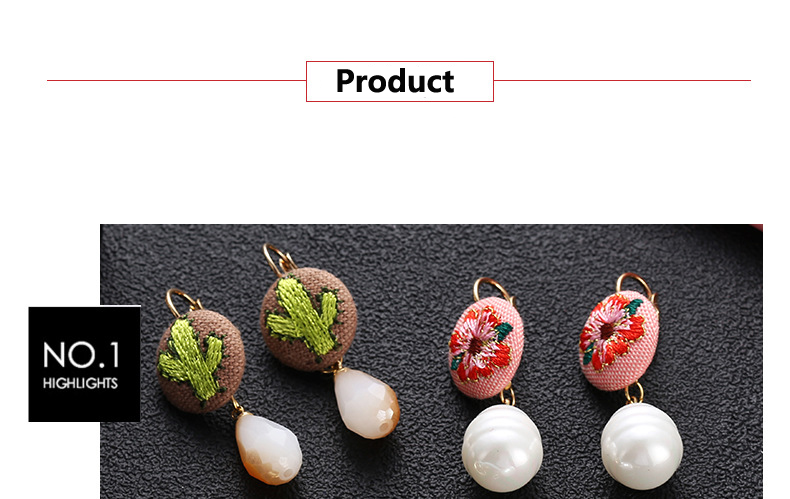 undefined  three Type Ethnic Type Embroidery Material Ball Stud Earrings Sample Design Earings For Ladies Couple Present 2018 New Jewellery Oorbellen HTB18mdNw8yWBuNkSmFPq6xguVXaQ