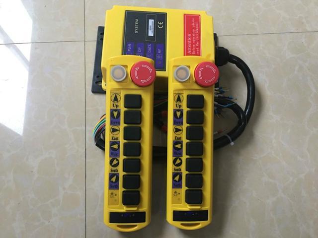 2 Speed 2 Transmitters 8 Channels Hoist Crane Radio Remote Control System A100