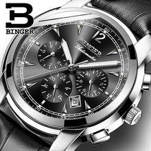 Switzerland Automatic Mechanical Watch Men Binger Luxury Bra