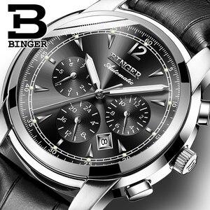 Image 1 - Szwajcaria automatyczny zegarek mechaniczny mężczyźni Binger luksusowej marki zegarki męskie Sapphire zegar wodoodporny reloj hombre B1178 20