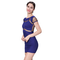 Fashion Women Formal Office OL Evening Party Short Mini Dress Sleeveless Vintage Top Blouse Sexy Backless Bodycon