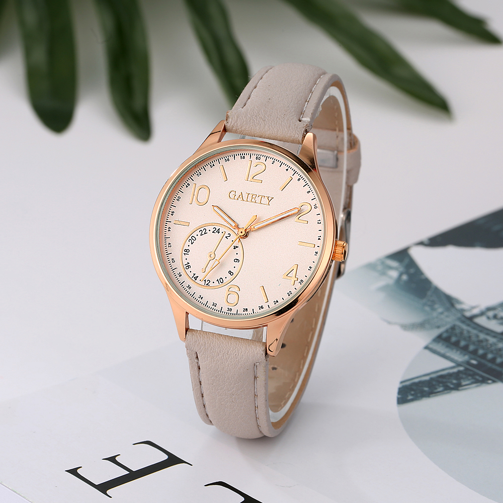 eb91a2d2891 Pulseira de couro Relógio de Pulso Das Mulheres Moda De Luxo Relógios de  Quartzo Mulheres Pulseira De Couro Casual Relógio Clássico Para Senhoras  G020 em ...