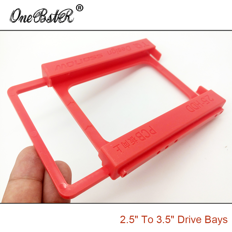 "Image 5 - 2.5"" SSD Hard Drive To 3.5"" Bay HDD Mounting Plastic Bracket Dock Tray Adapter Screw free Installation Easy free shipping-in 3D Printer Parts & Accessories from Computer & Office"