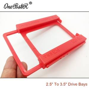 """Image 5 - 2.5"""" SSD Hard Drive To 3.5"""" Bay HDD Mounting Plastic Bracket Dock Tray Adapter Screw free Installation Easy Free Shipping"""
