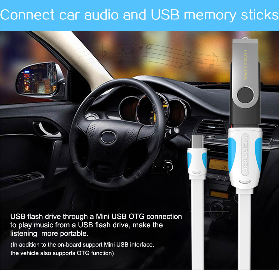 Vention Mini USB OTG Cable And USB OTG Adapter For GPS Camera Mobile Phone Tablet And More 4