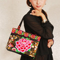 Vintage Embroidery Original National Chinese Style Women Handmade Flower Embroidered Canvas Ethnic Shoulder Bags Totel HandBag