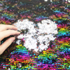 David Angie 50 145cm Rainbow Reversible Sequin Fabric Mermaid Sequin Fabric DIY Fabric For Cushion Backrest