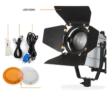 Wireless Remote Control Dimmable Bi-color LED150W LED Studio Fresnel spot Light 3200-5500K for  Camera Photo video Equipment