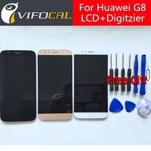 Для Huawei G8 ЖК-Дисплей + Сенсорный Экран 100% Новый Дигитайзер Ассамблеи Замена Аксессуары Для Huawei G8 Для Ascend G8