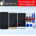 Para huawei g8 lcd display + pantalla táctil 100% nuevo accesorios de reemplazo montaje del digitizador para huawei g8 para ascend g8