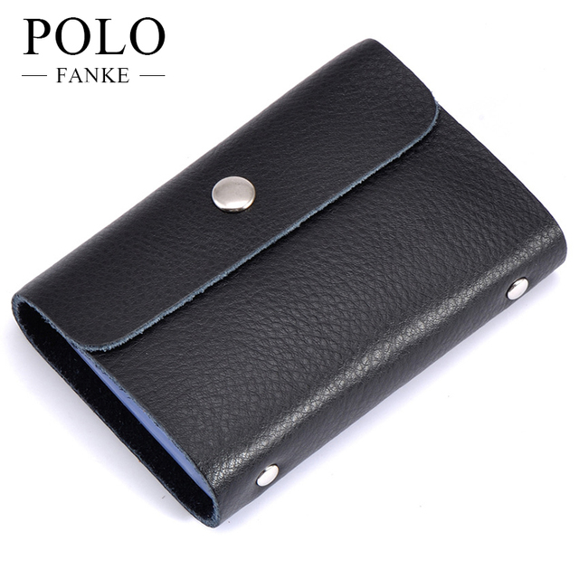 Fanke polo genuine leather men credit card holder cover russian fanke polo genuine leather men credit card holder cover russian business card wallet large capacity document colourmoves