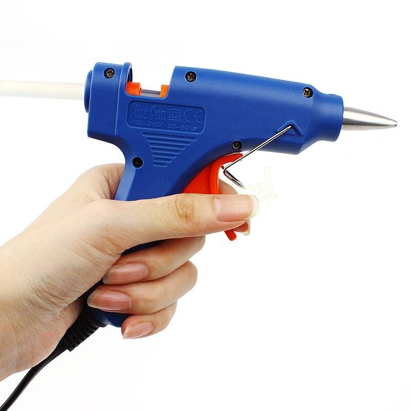 20 W Mini Chauffage Électrique Hot Melt Pistolet À Colle Professionnel Outil + 10 pcs 7*30mm Bâtons de Colle