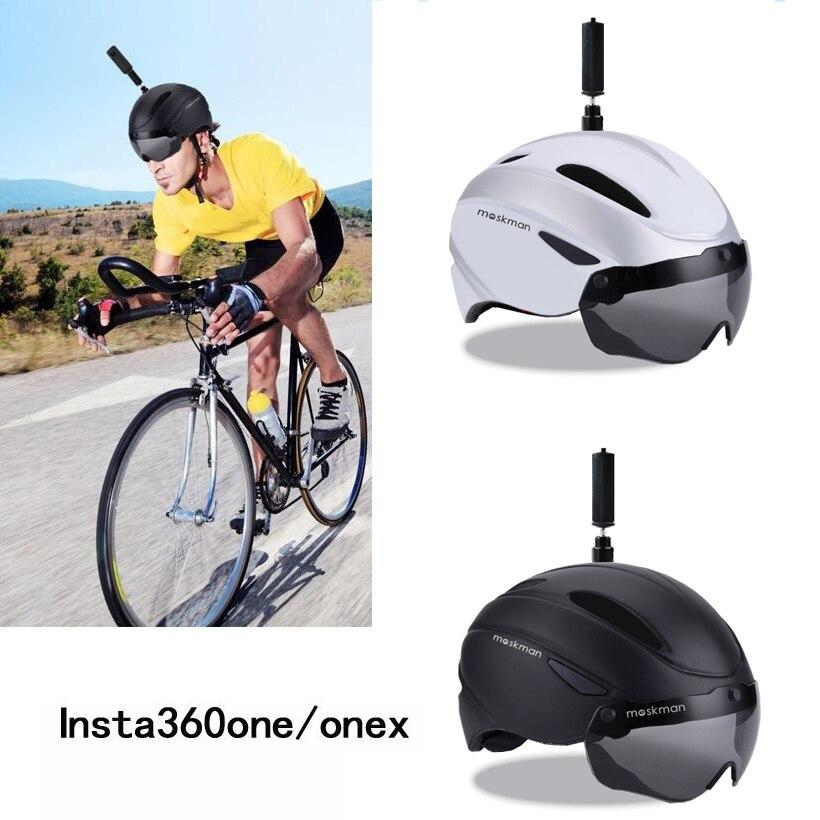 Insta360 One X casque de moto vélo réglable boucle Ski Skate extrême Sports support casque pour Insta 360 accessoires-in Accessoires pour caméscope 360° from Electronique    1