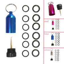Mini Aluminum Scuba Diving Tank with 12 O Rings Brass Pick Dive Key Chain Diving Repair Kit(China)