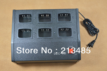 Six-Way Charger Multicharger (Can be charged with Li-ion and Ni-MH Battery Both) for Motorola HT750,HT1250,GP328,GP340,GP380