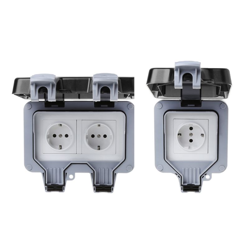 Waterproof Ip66 Electrical Socket Plug Outdoor Power Outlet With On Off Switch New Elegant Shape Air Purifier Parts Home Appliances