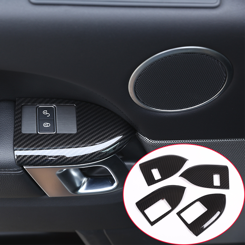 Carbon Fiber Style For Landrover Range Rover Sport RR Sport 2014 2017 ABS Plastic Child Safety