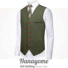Hanayome Dress Vests For Men Slim Fit Mens Suit Vest Male Waistcoat Gilet Homme Casual Sleeveless Formal Business Jacket SI175 showersmile mens double breasted vest suit black dress waistcoat for men slim fit sleeveless jacket male spring autumn gilet