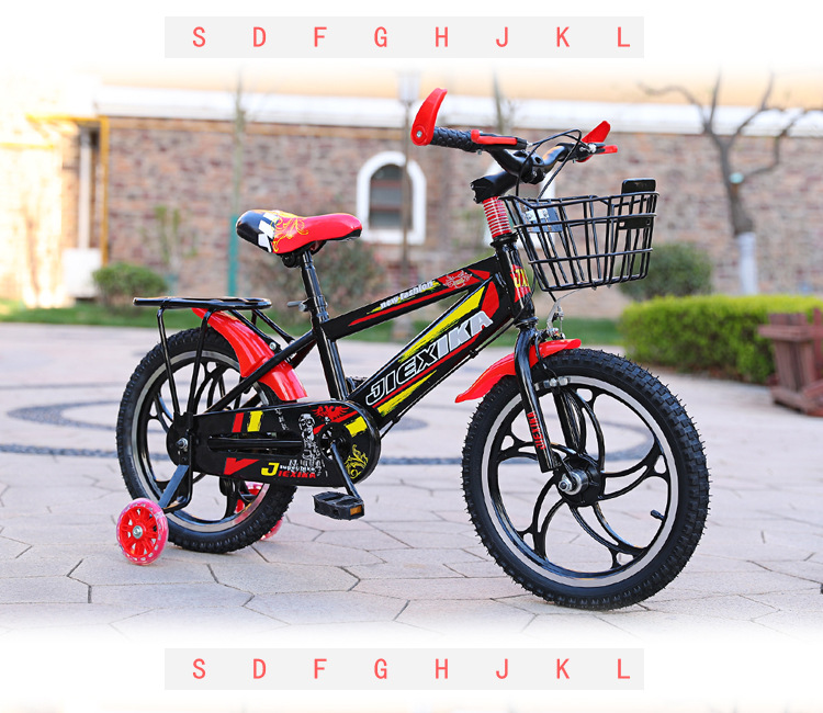 HTB18mf4aBKw3KVjSZTEq6AuRpXaI 2019 New children's bicycle 12 inch high and low grade generation baby stroller 3 6 years old mountain bike