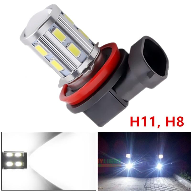 H11 Led Yüksək Güclü 12 SMD 5730 5W Cree çipləri LED Ksenon ağ - Avtomobil işıqları - Fotoqrafiya 1