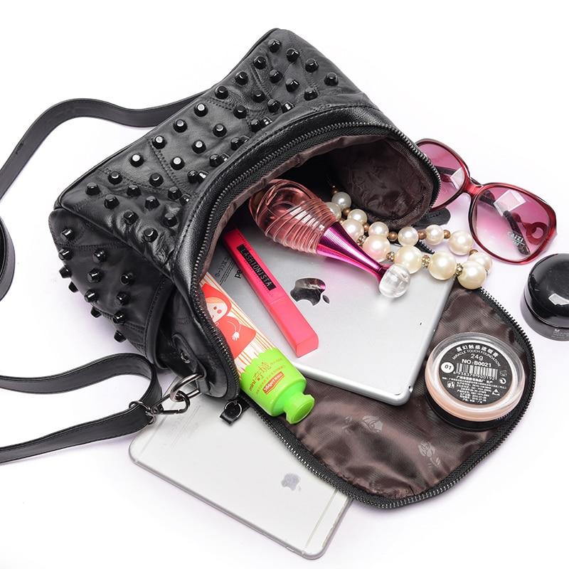 2019 Luxury Women Genuine Leather Bag Sheepskin Messenger Bags Handbags Famous Brands Designer Female Handbag Shoulder Sac