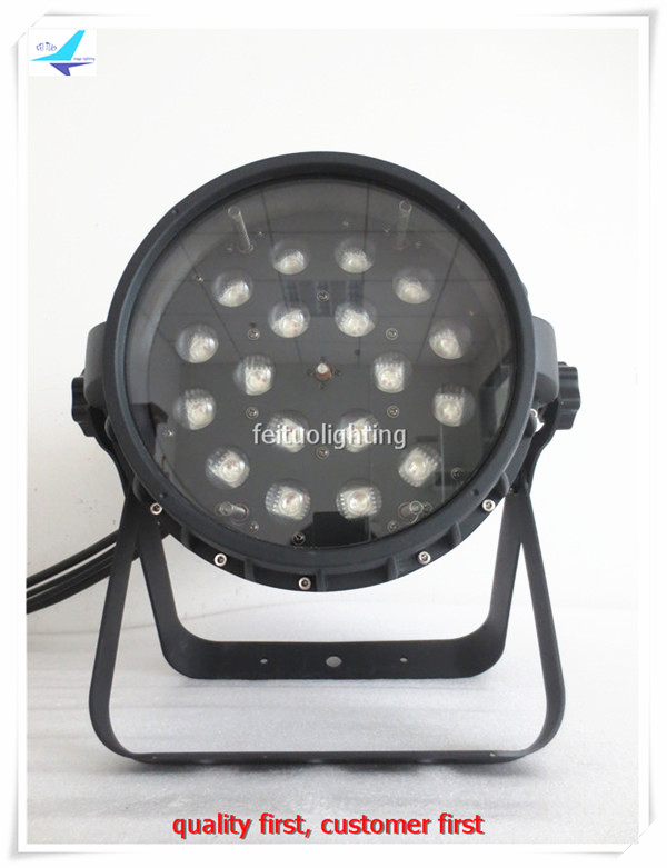 2pcs/lot LED Zoom 18x15W Par Light Outdoor Wash Par Can RGBWA 5in1 IP65 Professional Strobe Zoom LED Lighting for Disco DJ Party