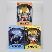 1pcs 15cm Anime Action Figure Naruto Toy Minato Kakashi Naruto Mini Q Ver Model Collection Gift Figurine Doll Brand New 6''