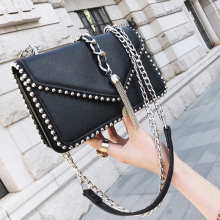 2018 Spring New Fashion Handbag  Luxury Decorative Wild Trend Shoulder Messenger Bag Woman Bag Small Square Package Chain