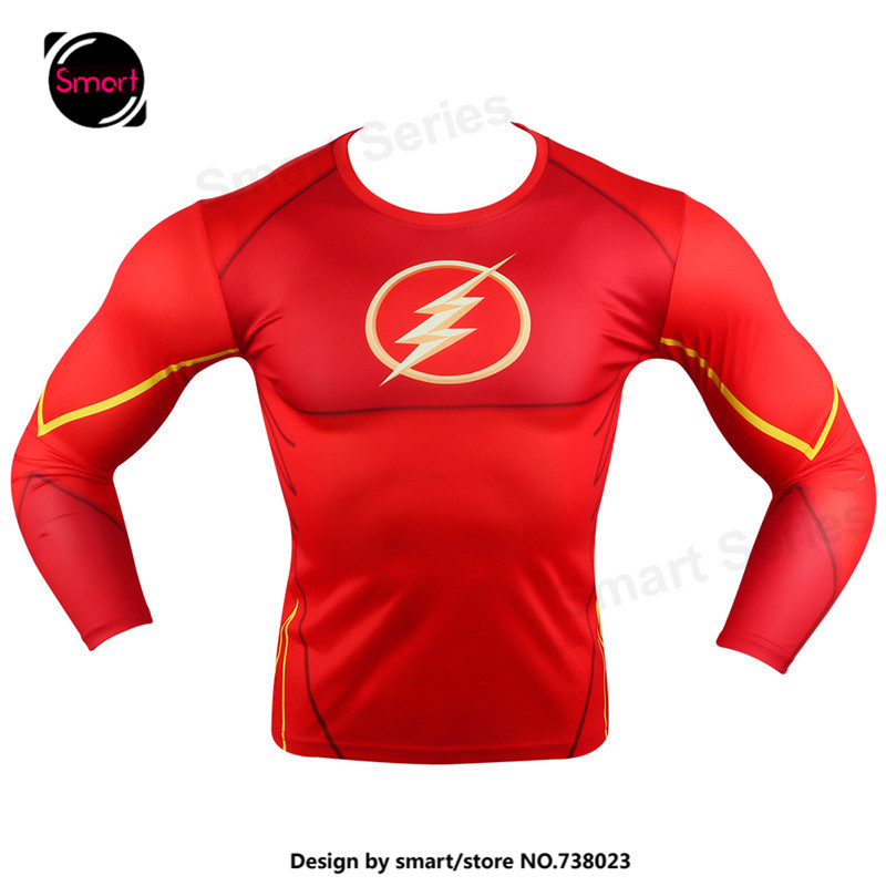 Marvel Flash Superhero Avenger Batman Captain America T shirt Men Base Layer fitness tshirt homme Plus size - Smartdoo Store store