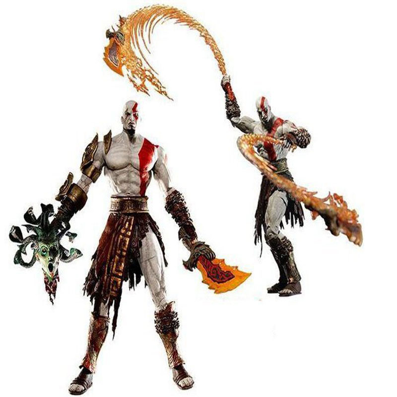 GZTZMY NECA God of War 2 Figures Kratos Action Figure Kratos in Golden Fleece Armor with Medusa Head Toy for kids gifts (4)