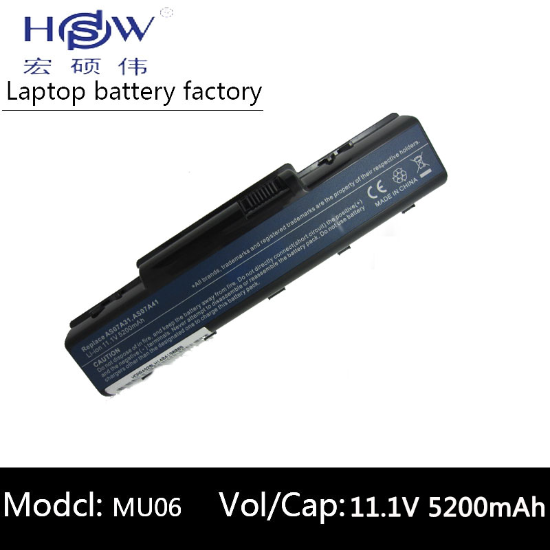 HSW rechargeable laptop battery forACER Aspire 5737Z 5738 5738G 5738PG 5738Z 5738ZG 5740 7715Z AS5740 AK.006BT.020 AK.006BT.025 10 8v 11 1v 12 cell laptop battery pack for acer aspire 5340 5542 5738z 5740 as5740 as5542 as07a75