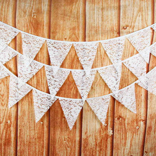 Aliexpress buy 12 flags white tropical flowers flag pennant 12 flags white tropical flowers flag pennant wedding birthday bunting banner hanging garlands pastel party decoration mightylinksfo