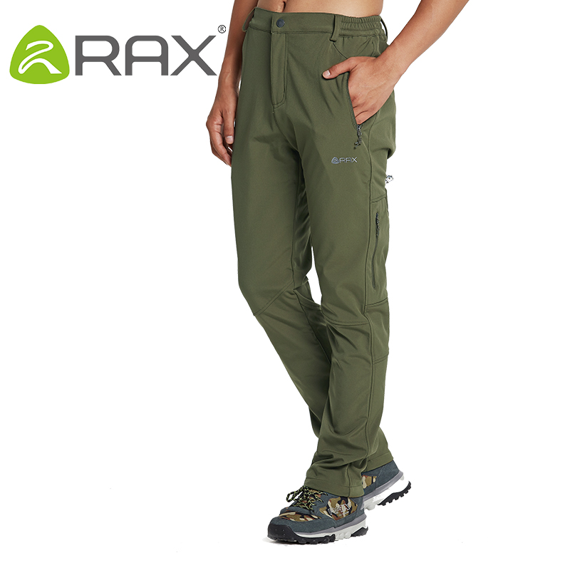 Rax Men Waterproof Hiking Pants Windproof Outdoor Sports Warm Soft Shell Hiking Camping Winter Pants Men 42-1M012