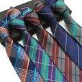 Moda Acessórios Poliéster Xadrez Laços para Homens Gravatas de Marca Dos Homens de Negócios de Casamento 8 cm Skinny Gravata Dos Noivos para Terno Camisa