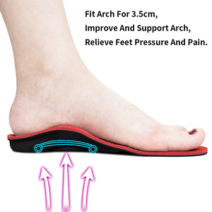 Image 3 - 3ANGNI Severe Flat feet insoles  Orthotic Arch Support  Inserts Orthopedic Insoles Heel Pain Plantar Fasciitis Men Woman Shoes