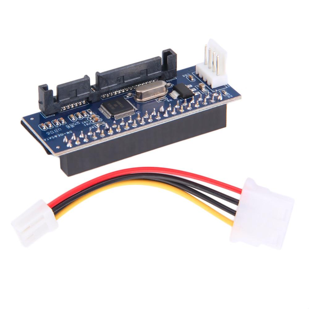 40-Pin IDE Female To SATA 7+15Pin 22-Pin Male Adapter PATA TO SATA Card Drop Shipping