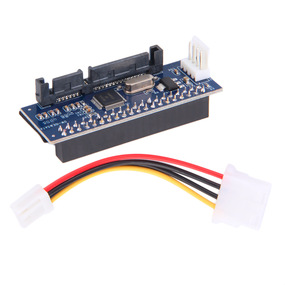 40-Pin IDE Female To SATA 7+15Pin 22-Pin Male Adapter PATA TO SATA Card Drop Shipping