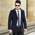 Autumn and Winter Overcoat Men Long Section Mens Wool Coat Men Woolen Coat Wool & Blends Warm Snow Jacket 4xl 5xl 6xl #9811