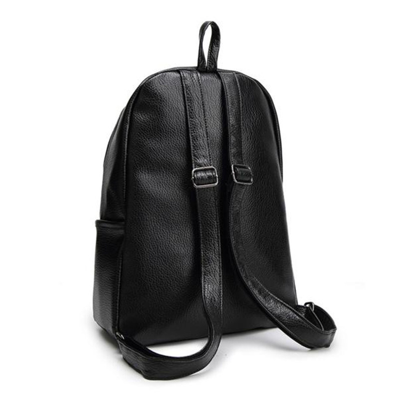 e7347b81ae Affordable New Travel Backpack Korean Women Backpack Leisure Student  Schoolbag Soft PU Leather Women Bag wholesaleWholesale-in Backpacks from  Luggage   Bags ...