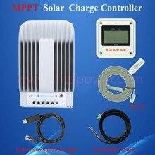 ขายร้อน 40A 12V 24V Tracer 4215BN 40 แอมป์โปรแกรม MPPT คอนโทรลเลอร์ชาร์จพลังงานแสงอาทิตย์ PC USB สาย & Temperature SENSOR